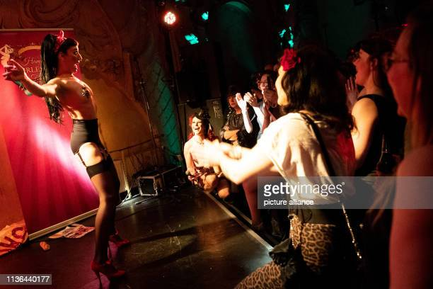 Jacky Lu burlesque artist from Italy shows her show in the Prinzenbar at the opening of the 3rd Hamburg Burlesque Festival Until 14 April...