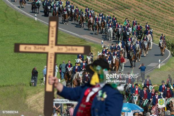 dpatop 21 May 2018 Germany Bad Koetzing Participants of the Whit Monday procession ride their horses This event counting with almost 900 participants...