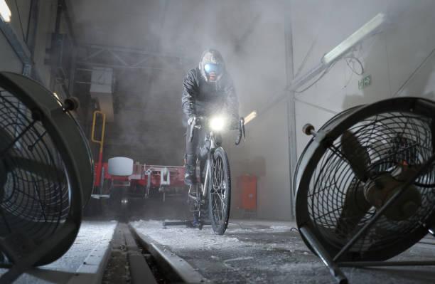 DEU: Extreme Sportsman Jonas Deichmann In The Cold Chamber