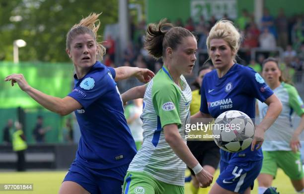 dpatop 29 April 2018 Germany Wolfsburg Soccer Women Champions League KO Round Semifinal Return Match VfL Wolfsburg vs LFC Chelsea at the AOK Stadium...