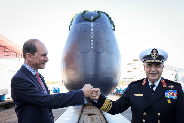 DEU: Christening Of Submarine For Egyptian Navy At Thyssenkrupp Marine Systems
