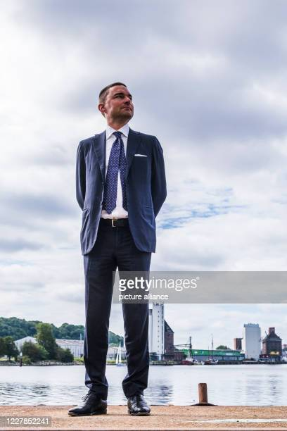 Dpatop - 31 July 2020, Schleswig-Holstein, Flensburg: Investor Lars Windhorst from Tennor Holding is standing at the pier. Windhorst announced that...