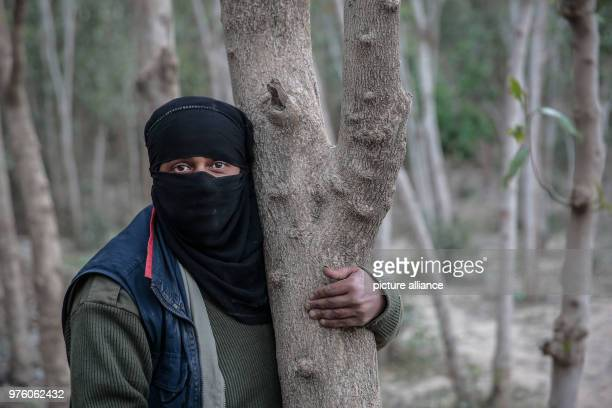 dpatop A picture provided on 30 May 2018 shows Yemeni farmer Ahlam AlAlaya posing for a picture in her land farm during an interview with dpa in the...