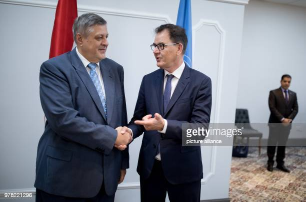 dpatop German development minister Gerd Mueller meets with Jan Kubis Special Representative and Head of the United Nations Assistance Mission in Iraq...