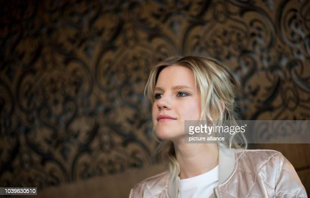 Dpatop - Singer Levina, the German contestant of the Eurovision Song Contest , photographed during an interview at a hotel in Kiev, Ukraine, 9 May...