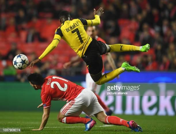 Champions League Benfica Lissabon Borussia Dortmund KoRunde Achtelfinale Hinspiele am in Estádio da Luz Lissabon Portugal Dortmunds Ousmane Dembele...