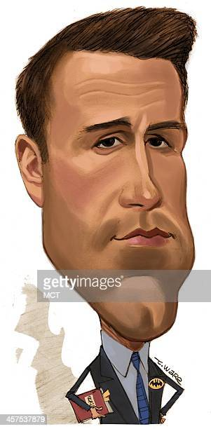 Dpi Chris Ware caricature of actor/writer/director Ben Affleck.