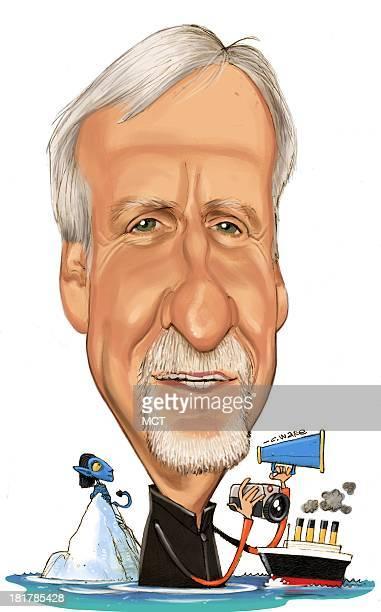 USA 2013 300 dpi Chris Ware caricature of director James Cameron