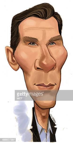 USA 2014 300 dpi Chris Ware caricature of film TV and stage actor Benedict Cumberbatch