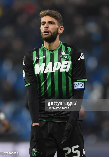Dpomenico Berardi of US Sassuolo looks during the Serie A match between US Sassuolo and Udinese at Mapei Stadium Citta' del Tricolore on December 2...