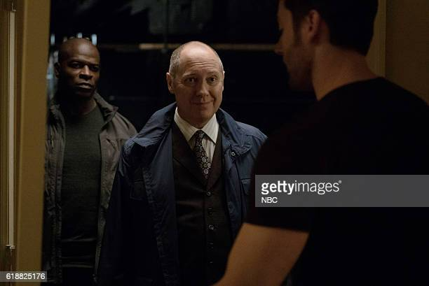 THE BLACKLIST 'Dr Adrian Shaw Conclusion' Episode 408 Pictured Hisham Tawfiq as Dembe Zuma James Spader as Raymond 'Red' Reddington