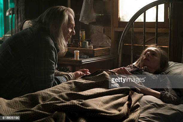 THE BLACKLIST 'Dr Adrian Shaw Conclusion' Episode 408 Pictured Leon Rippy as The Hunter Susan Blommaert as Mr Kaplan