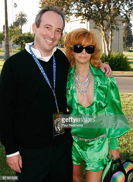 Dr Agus David and Linda Ramone at the Tribute To Legendary Ramones Guitarist Johnny Ramone at the Hollywood Forever Cemetery on August 1 2008 in...