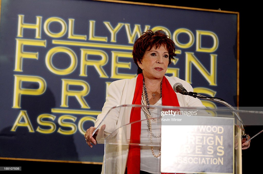 Dr. Aida Takia-O'Reilly, President, HFPA speaks at the Hollywood Foreign Press Association's announcement of Jodie Foster as the recipient of the Cecil B. DeMille Award at the Beverly Hills Hotel on November 1, 2012 in Beverly Hills, California.