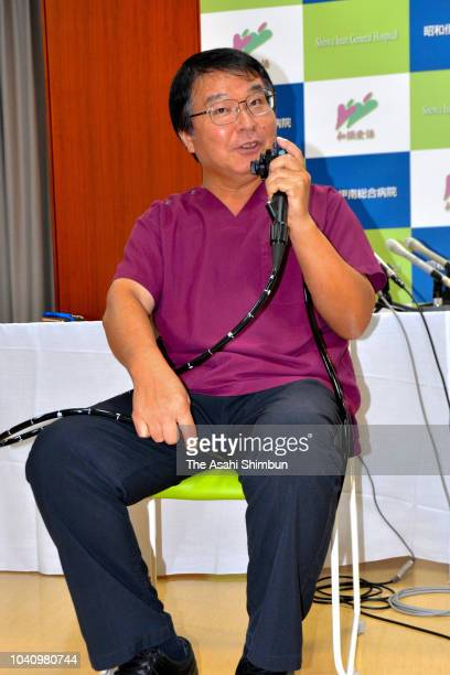 Dr Akira Horiuchi poses for photographs during a press conference on September 19 2018 in Komagane Nagano Japan Horiuchi is awarded the Ig Nobel...