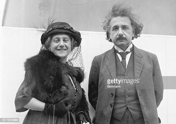 Dr Albert Einstein and his wife sailing for home on the SS Celtic