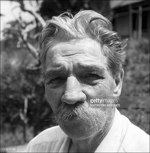 Dr Albert Schweitzer and his hospital in Lambarene Gabon in 1953 Albert Schweitzer