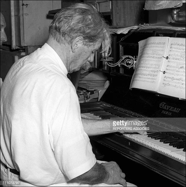 Dr Albert Schweitzer and his hospital in Lambarene Gabon in 1953 Albert Schweitzer playing the piano He continued to write music as well as perform...