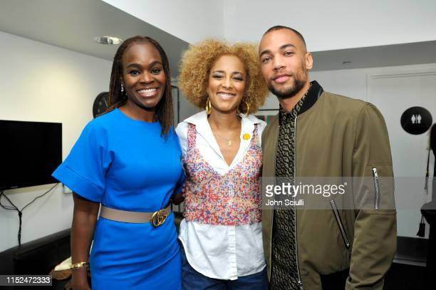 Dr Alfiee BrelandNoble Amanda Seales and Kendrick Sampson attend SoulPancake's Four Conversations about One Thing at Hammer Museum on May 29 2019 in...