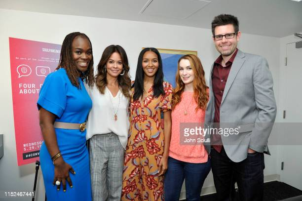 Dr Alfiee BrelandNoble Brooke Burke Lizzy Mathis Felicia Day and Tom Riles attend SoulPancake's Four Conversations about One Thing at Hammer Museum...