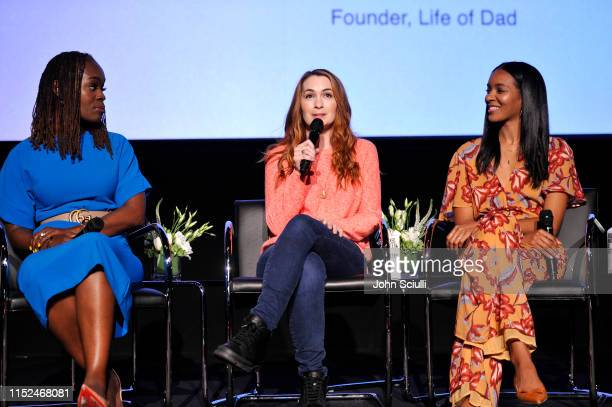 Dr Alfiee BrelandNoble Felicia Day and Lizzy Mathis speak onstage during SoulPancake's Four Conversations about One Thing at Hammer Museum on May 29...