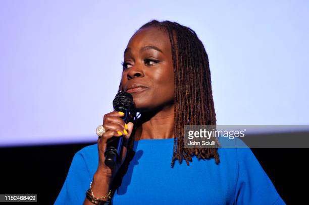 Dr Alfiee BrelandNoble speaks onstage during SoulPancake's Four Conversations about One Thing at Hammer Museum on May 29 2019 in Los Angeles...