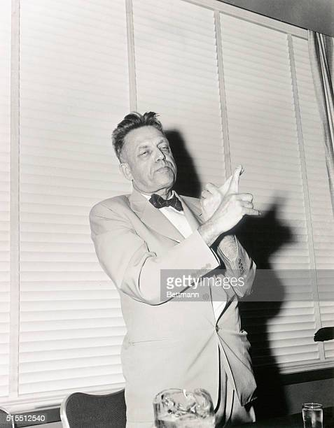 Dr Alfred Kinsey during his first appearance since the publication of reviews of his controversial new book Sexual Behavior in the Human Female