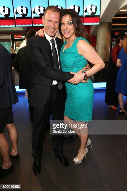Dr Alice Brauner and her husband Michael Zechbauer during the opening night of the Munich Film Festival 2017 at Mathaeser Filmpalast on June 22 2017...