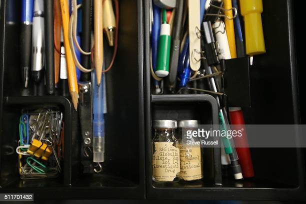 Dr Alvin Zipursky keeps a pair of the first vials that held the RHImmune globulin in his desk drawer In 1959 a young Winnipeg doctor named Dr Alvin...