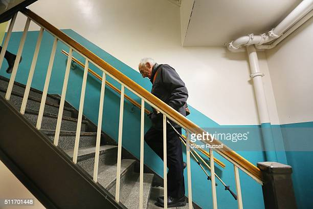 Dr Alvin Zipursky takes the stairs as he arrives at the Hospital for Sick Children where he has an office In 1959 a young Winnipeg doctor named Dr...