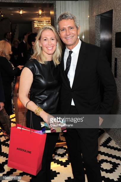 Dr Aly Cohen and Carlos Souza attends Valentino Kick Off For Casita Maria's Fiesta 2018 at Valentino Boutique on October 4 2018 in New York City