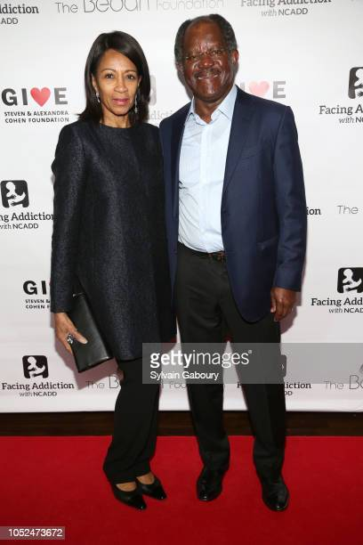 Dr Amelia QuistOgunlesi and Adebayo Ogunlesi attend Facing Addiction With NCADD Gala 2018 at The Rainbow Room on October 8 2018 in New York City