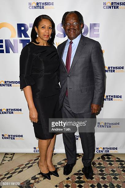 Dr Amelia QuistOgunlesi and Adebayo Ogunlessi attend the Northside Center for Child Development 70th Anniversary Spring Gala at Cipriani 42nd Street...