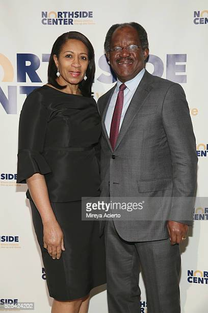 Dr Amelia QuistOgunlesi and Adebayo Ogunlessi attends the Northside Center for Child Development 70th Anniversary Spring Gala on April 27 2016 in New...