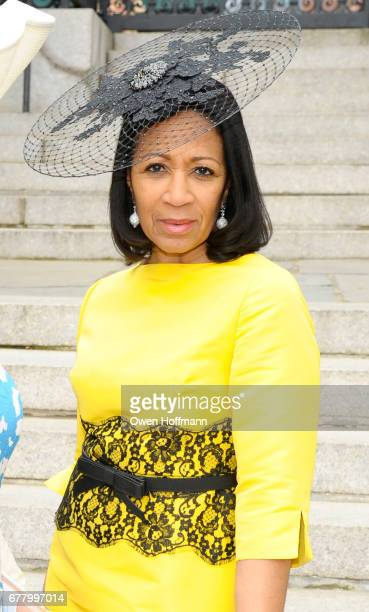 Dr Amelia QuistOgunlesi attends 35th Annual Frederick Law Olmsted Awards Luncheon at the Conservatory Garden in Central Park on May 3 2017 in New...