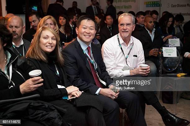 Dr Andrea Feinberg physician champion for Geisinger's Fresh Food Pharmacy Geisinger Chief Medical Officer Dr Jaewon Ryu and Geisinger Chief...