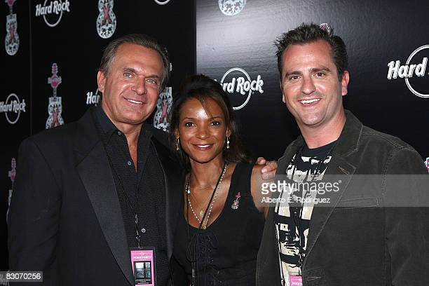 Dr Andrew Ordon Dr Lisa Masterson and Dr Jim Sears arrive at a special live performance by Melissa Etheridge held at the Universal City Walk's Hard...