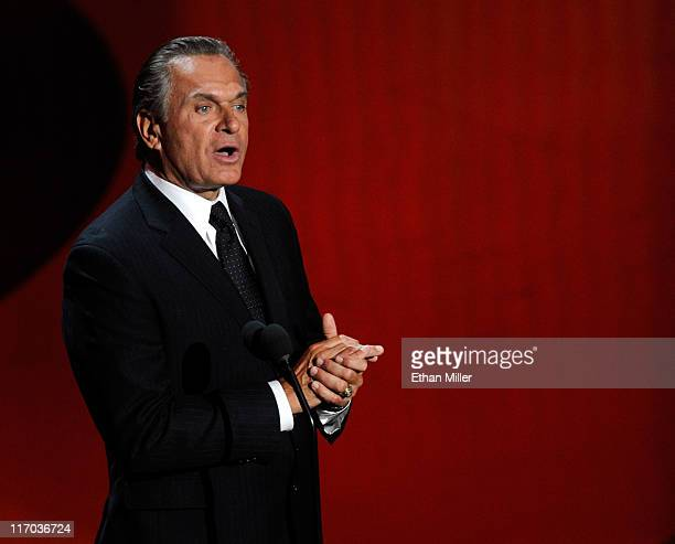 Dr Andrew Ordon speaks onstage during the 38th Annual Daytime Entertainment Emmy Awards held at the Las Vegas Hilton on June 19 2011 in Las Vegas...