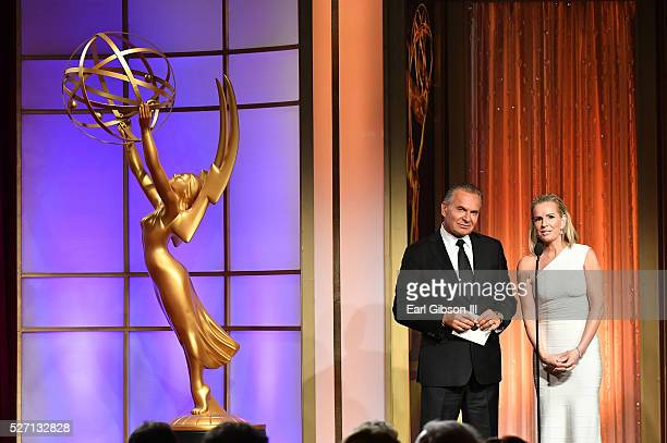 Dr Andrew P Ordon MD and physician Jennifer Ashton speak onstage at the 43rd Annual Daytime Emmy Awards at the Westin Bonaventure Hotel on May 1 2016...