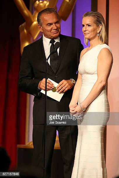 Dr Andrew P Ordon MD and physician Jennifer Ashton speak onstage during the 2016 Daytime Emmy Awards at Westin Bonaventure Hotel on May 1 2016 in Los...