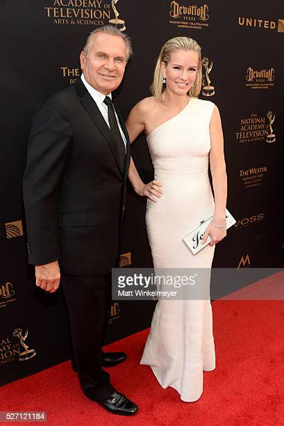 Dr Andrew P Ordon MD and physician Jennifer Ashton walk the red carpet at the 43rd Annual Daytime Emmy Awards at the Westin Bonaventure Hotel on May...