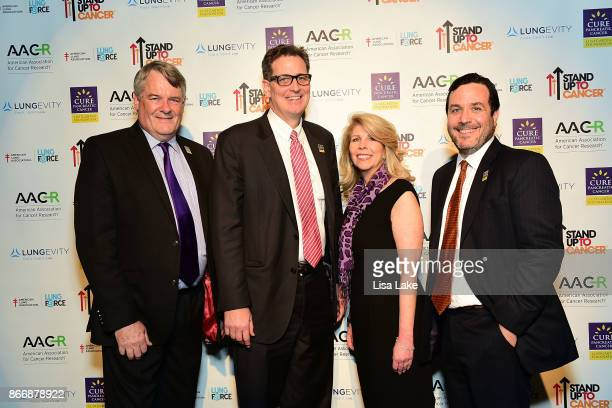 Dr Andrew Whiteley Dr David Ryan Kerri Kaplan and Dr Alec Kimmelman attend the launch of the Stand Up To Cancer 'Cancer Interception' Initiative...