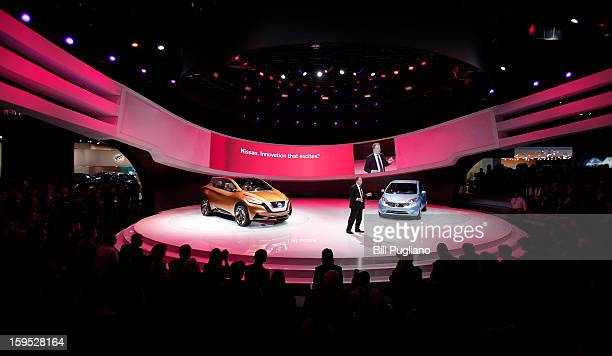 Dr Andy Palmer Executive Vice President Nissan Motor Company introduces the new Nissan Resonance Concept hybridelectric vehicle and the Versa Note at...