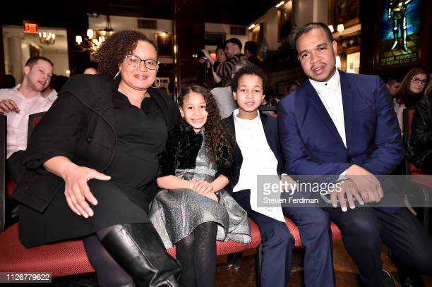 Dr Angelique AndersonNunez Joya Nunez Jeremiah Nunez and Johnny Nunez attend Stereo Hideout at The Players on Gramercy Park on February 22 2019 in...