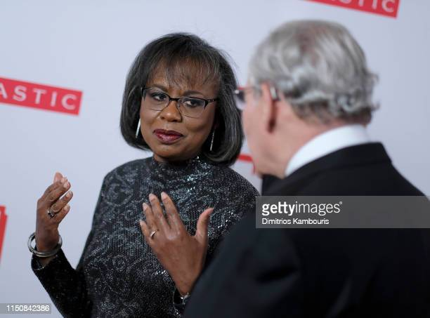 Dr Anita Hill and Bob Woodward attend the 2019 PEN America Literary Gala at American Museum of Natural History on May 21 2019 in New York City