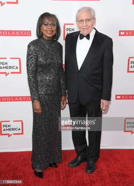 Dr. Anita Hill and Bob Woodward attend the 2019 PEN America Literary Gala at American Museum of Natural History on May 21, 2019 in New York City.