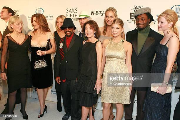 Dr Anna Barker Rita Wilson Kelly Chapman Meyer Marion Laurie Jamie Tisch and Quinn Ezralow with Black Eyed Peas
