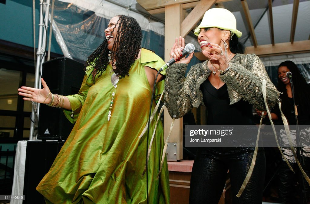 Dr. Anne R. Elliott and singer, Nona Hendryx perform at the opening of Kandake House on May 19, 2011 in New York City.