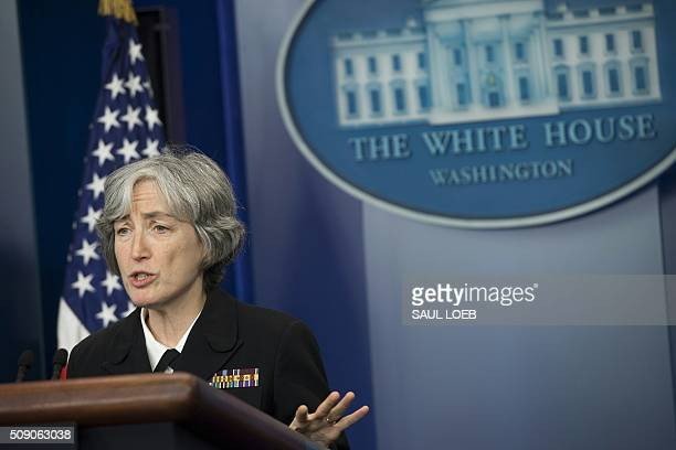Dr Anne Schuchat Principal Deputy Director of the Centers for Disease Control and Prevention speaks about the Zika virus during the daily press...
