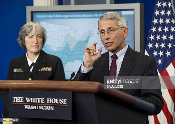 Dr Anne Schuchat Principal Deputy Director of the Centers for Disease Control and Prevention and Dr Anthony Fauci Director of National Institutes of...